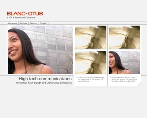 blanc & otus home page