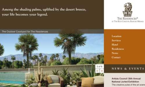 Ritza Carlton Rancho Mirage - Home